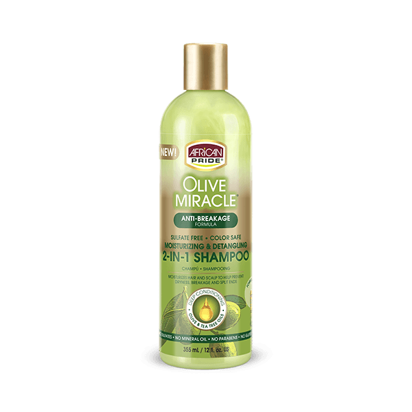 African Pride Olive Miracle 2 In 1 Shampoo & Conditioner 12oz