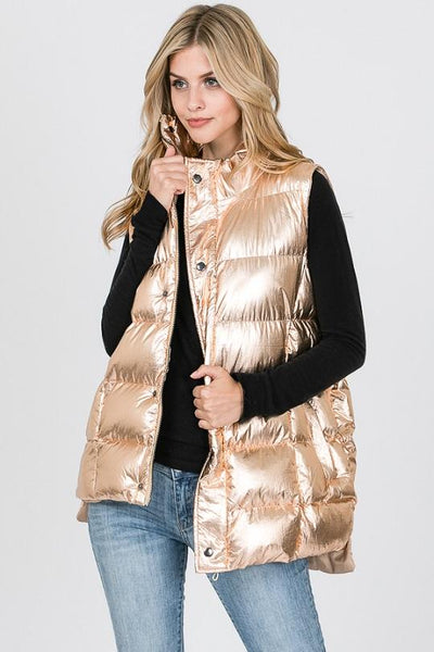 Fashion Collection Long Puff Vest Large #AV302 (PC)