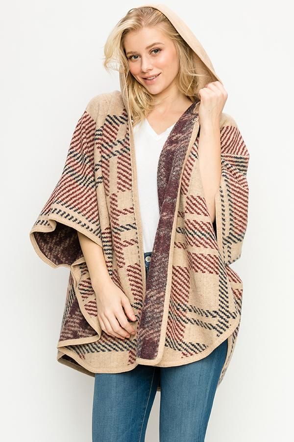 Fashion Collection Zip-Up Poncho #AV355 (PC)