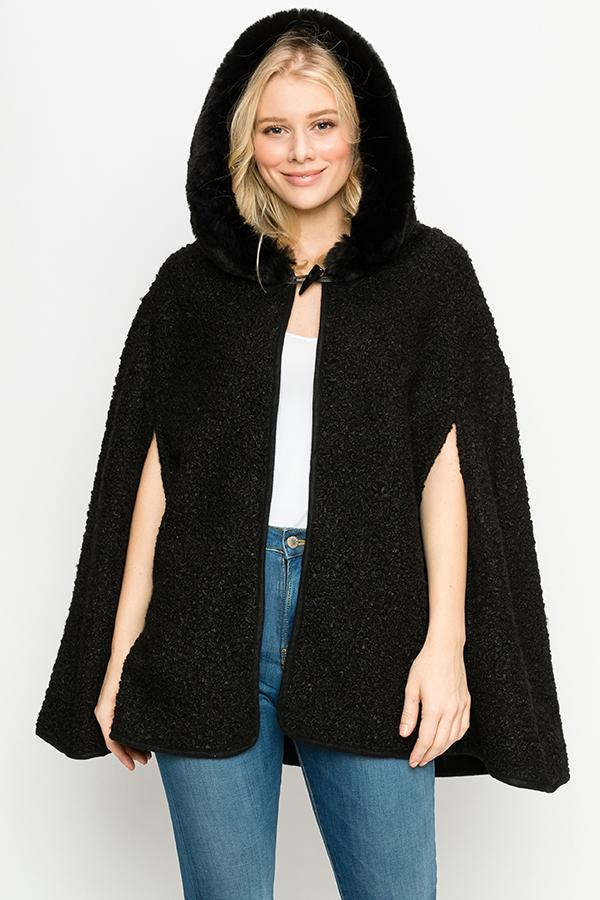 Fashion Collection Hooded Poncho #AV368 (PC)