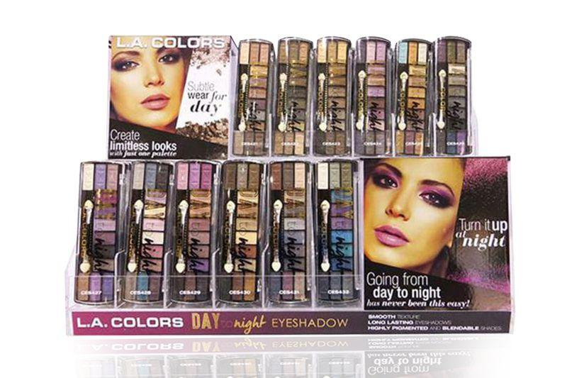 LA Colors Day to Night Eyeshadow Set/Display #CAD73.1 (144PC)