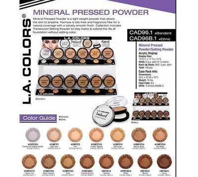 LA Color Ethnic Mineral Pressed Powder #CAD96B.1 (108PC)