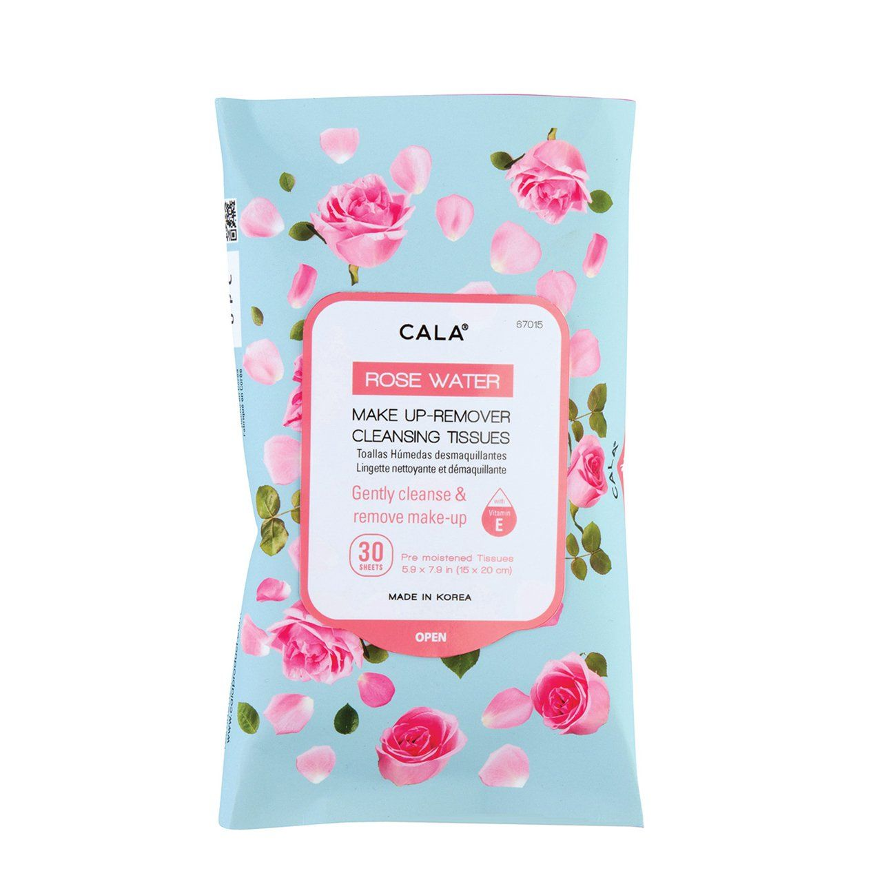 Cala Rose Water Makeup Remover Cleansing Tissues #67015 (6PACK)