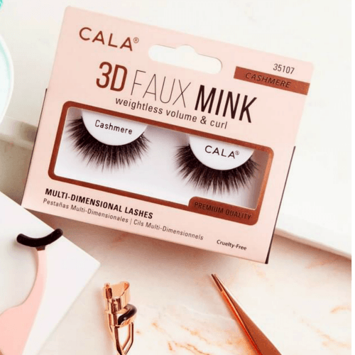Cala 3D Faux Mink Weightless Volume & Curl Eyelashes #35101-35112 (12PC)