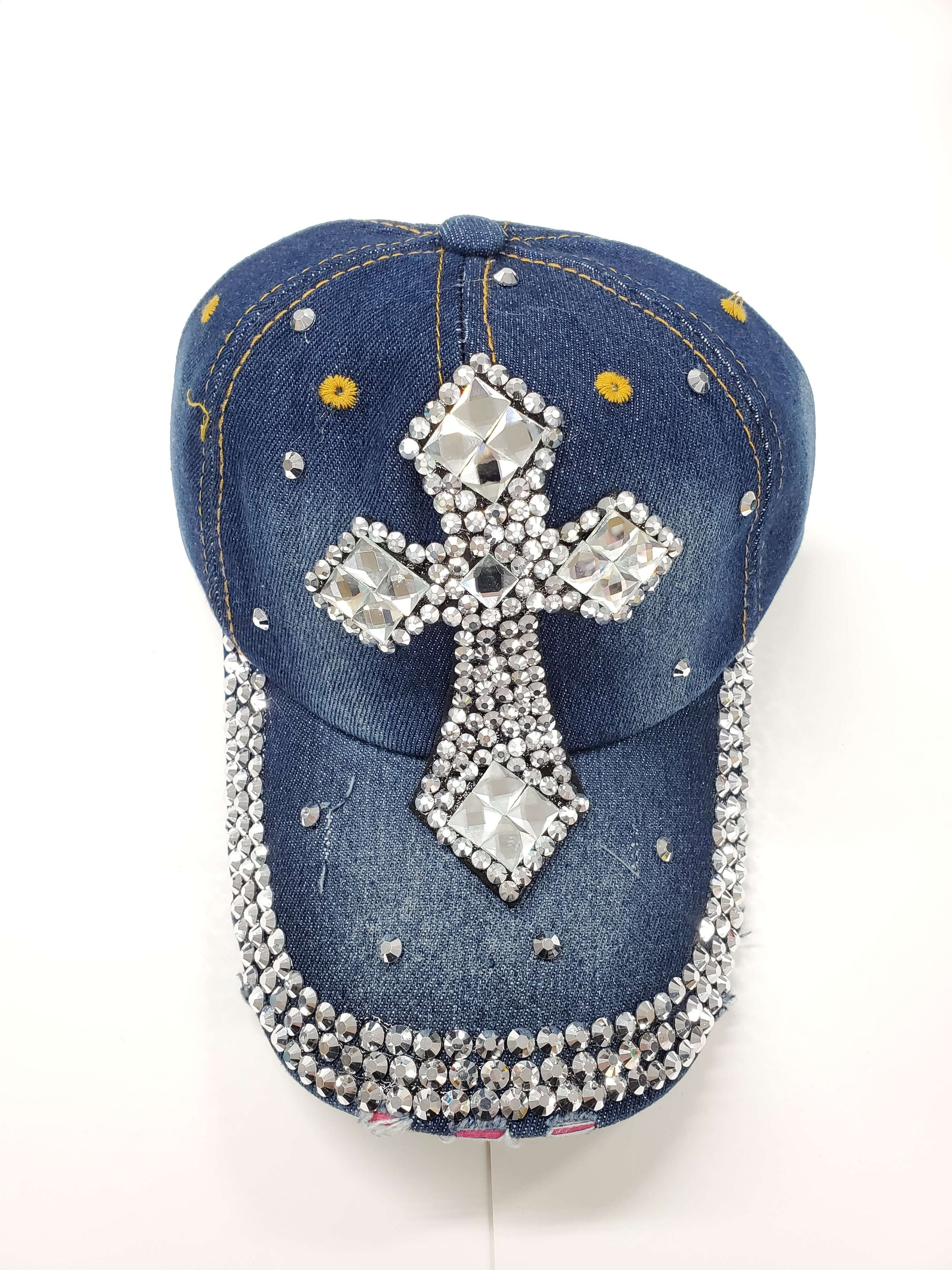 cross-fancy-wholesale-denim-rhinestone-hats