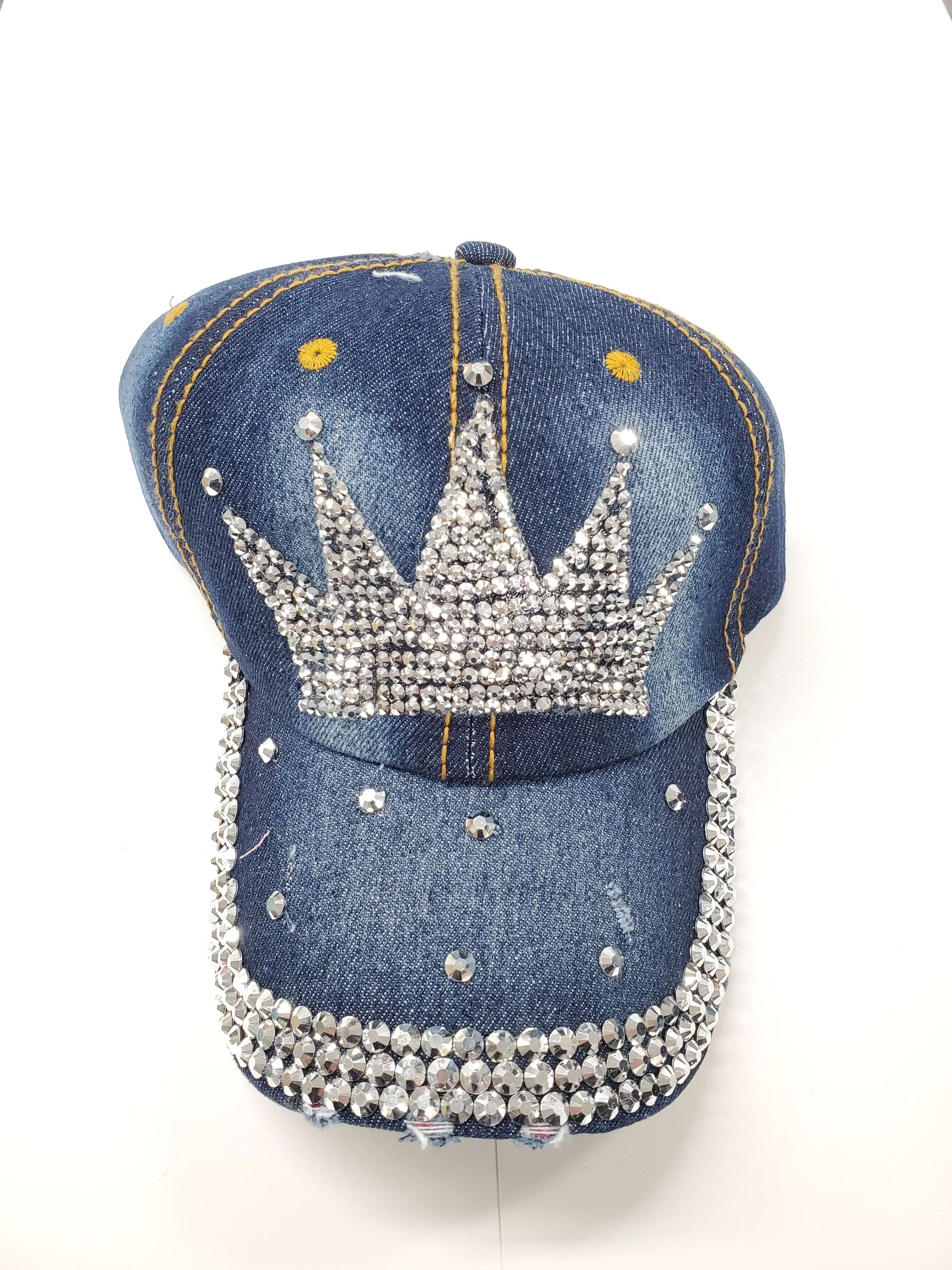 crown-wholesale-denim-rhinestone-hats