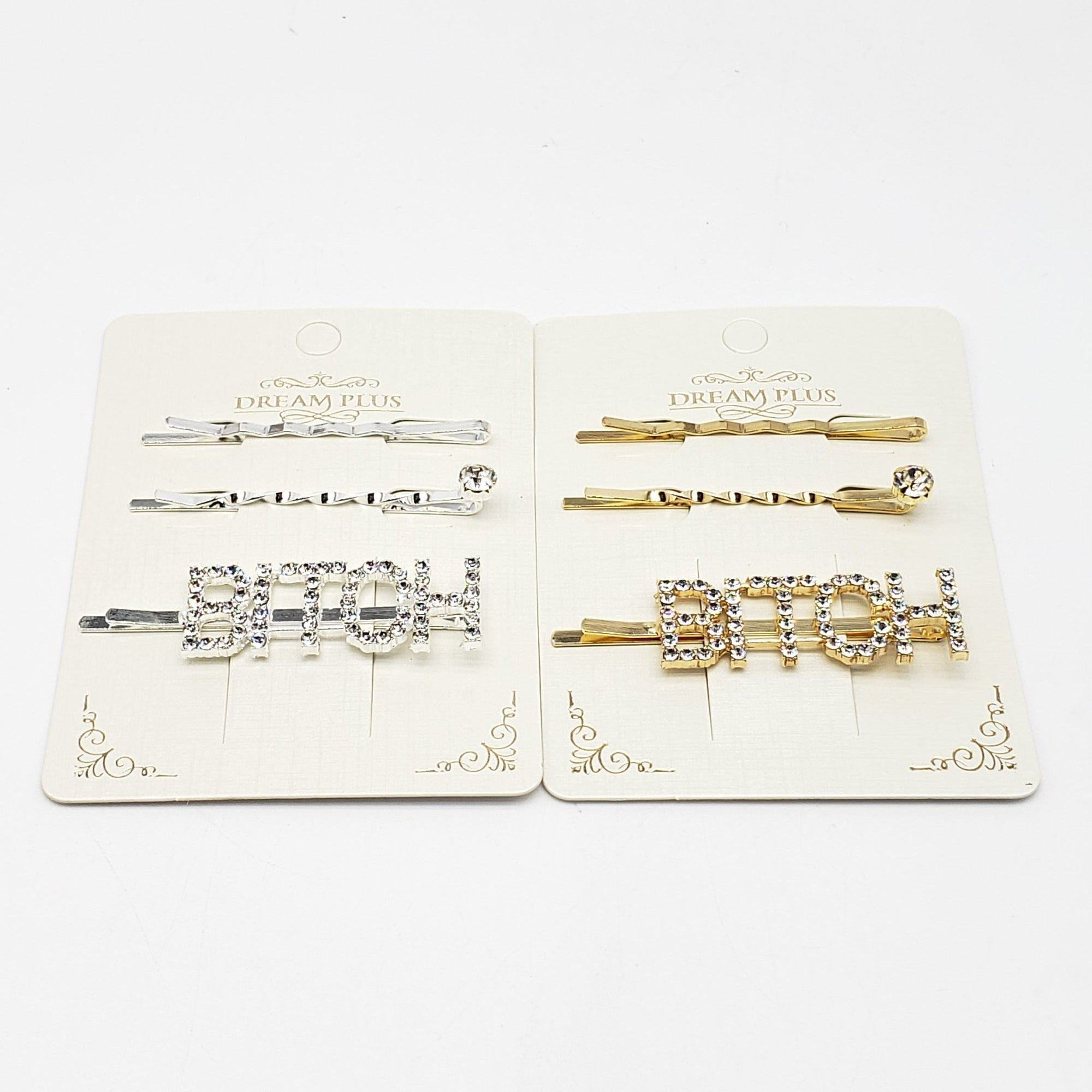 Dream Plus Gold and Silver BXXXH Hair Pins #DHP491GS (12PC)