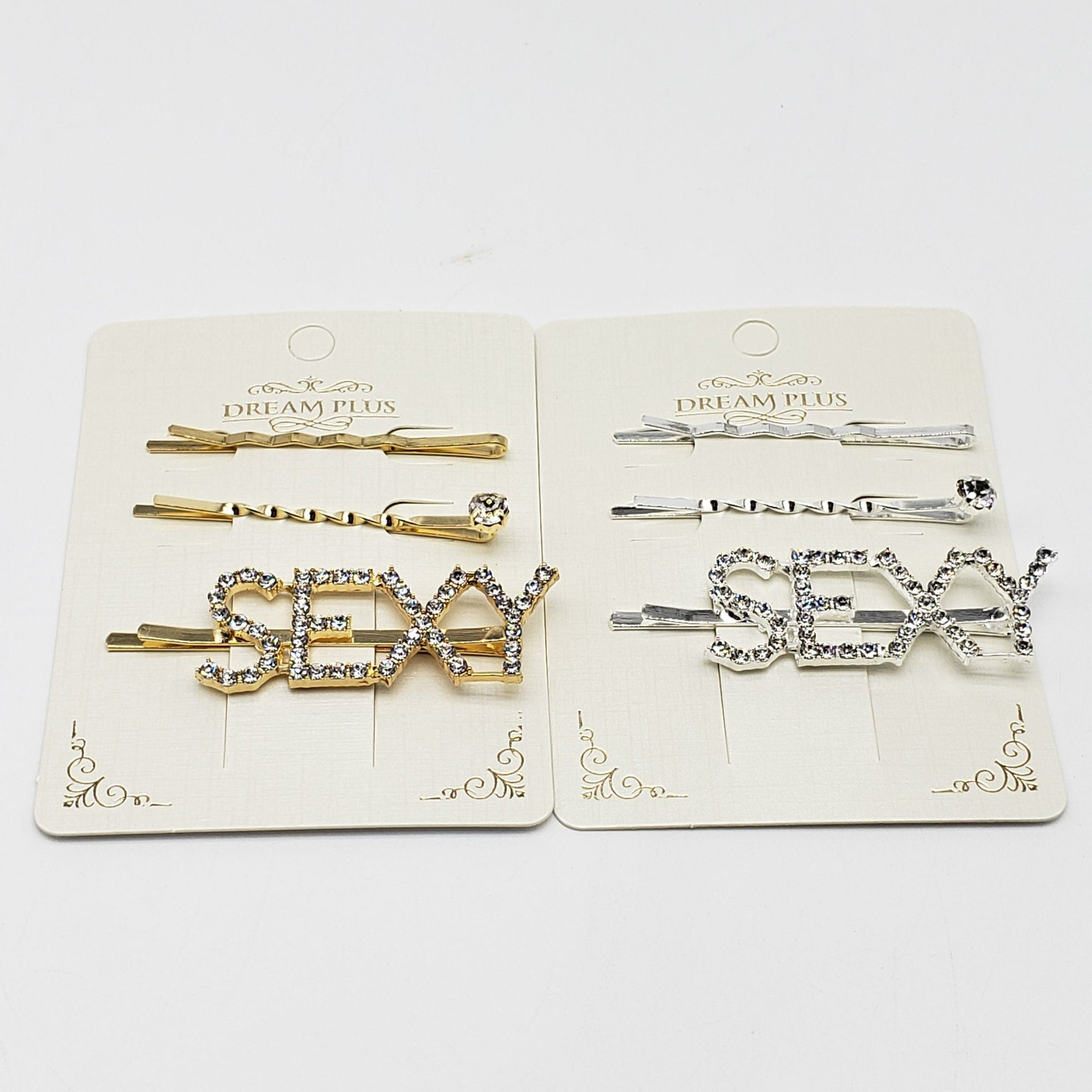 Dream Plus Gold and Silver SEXY Hair Pins #DHP495GS (12PC)