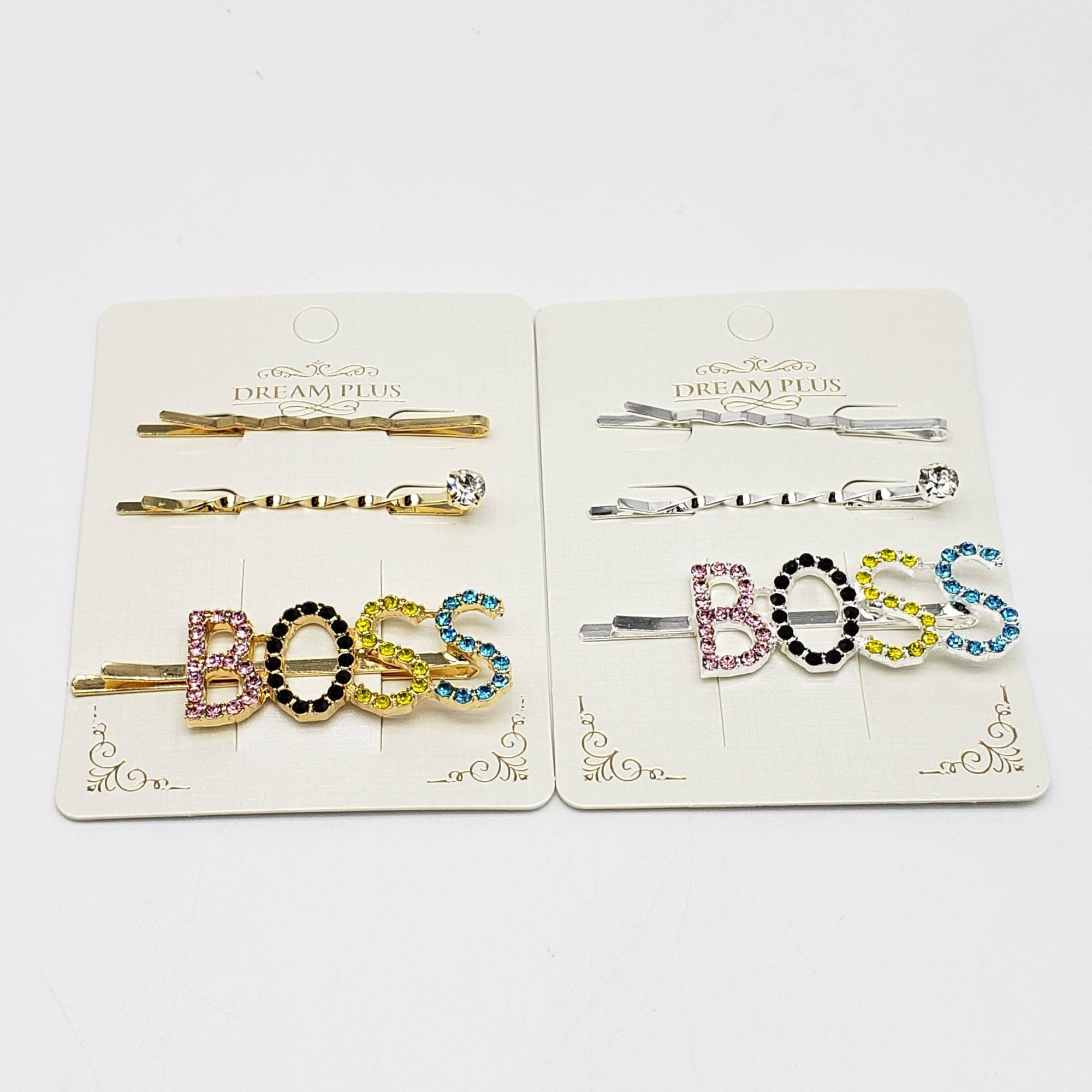 Dream Plus Gold and Silver Multicolor BOSS Hair Pins #DHP499GS-MT (12PC)