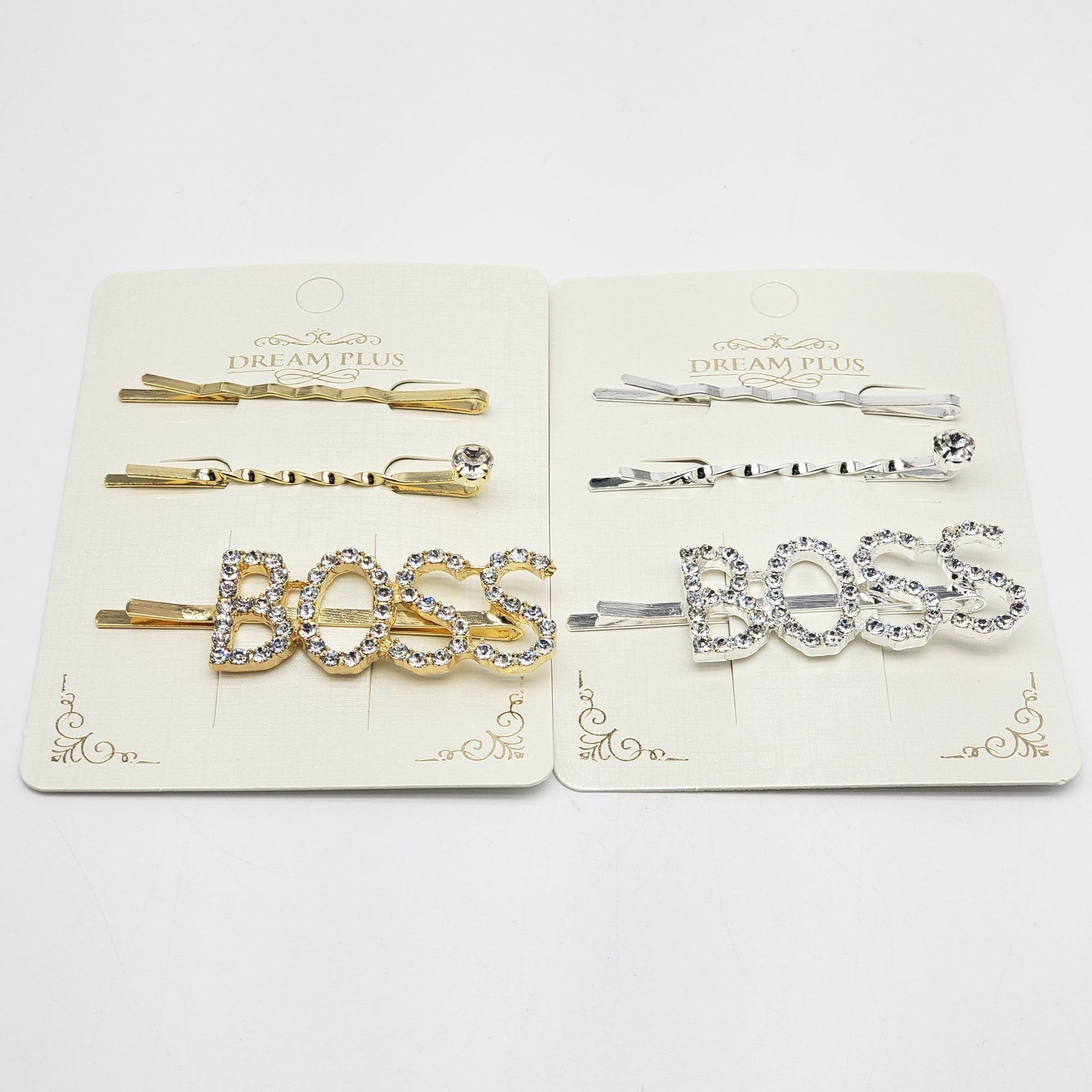 Dream Plus Gold and Silver BOSS Hair Pins #DHP499GS (12PC)