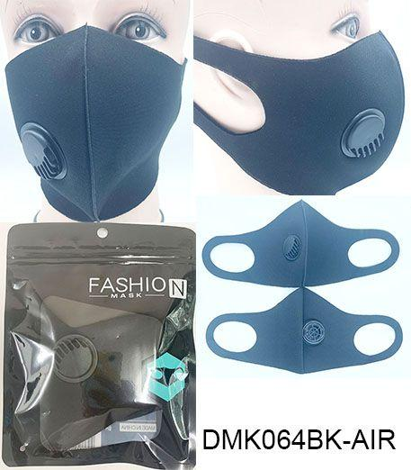 Polyester/Ventilator Mask / Black #DMK064BK-AIR (12PC)