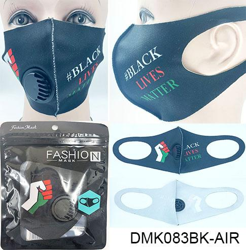 BLM/Polyester/Ventilator Mask / Black #DMK083BK-AIR (12PC)