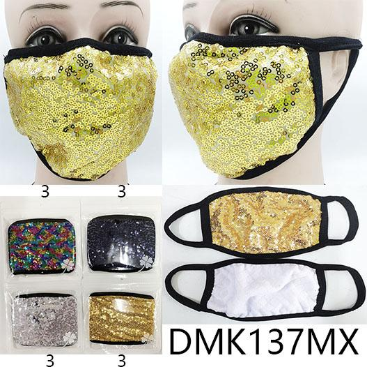 Cloth/Cotton Mask / Sequin / Assort #DMK137MX (12PC)
