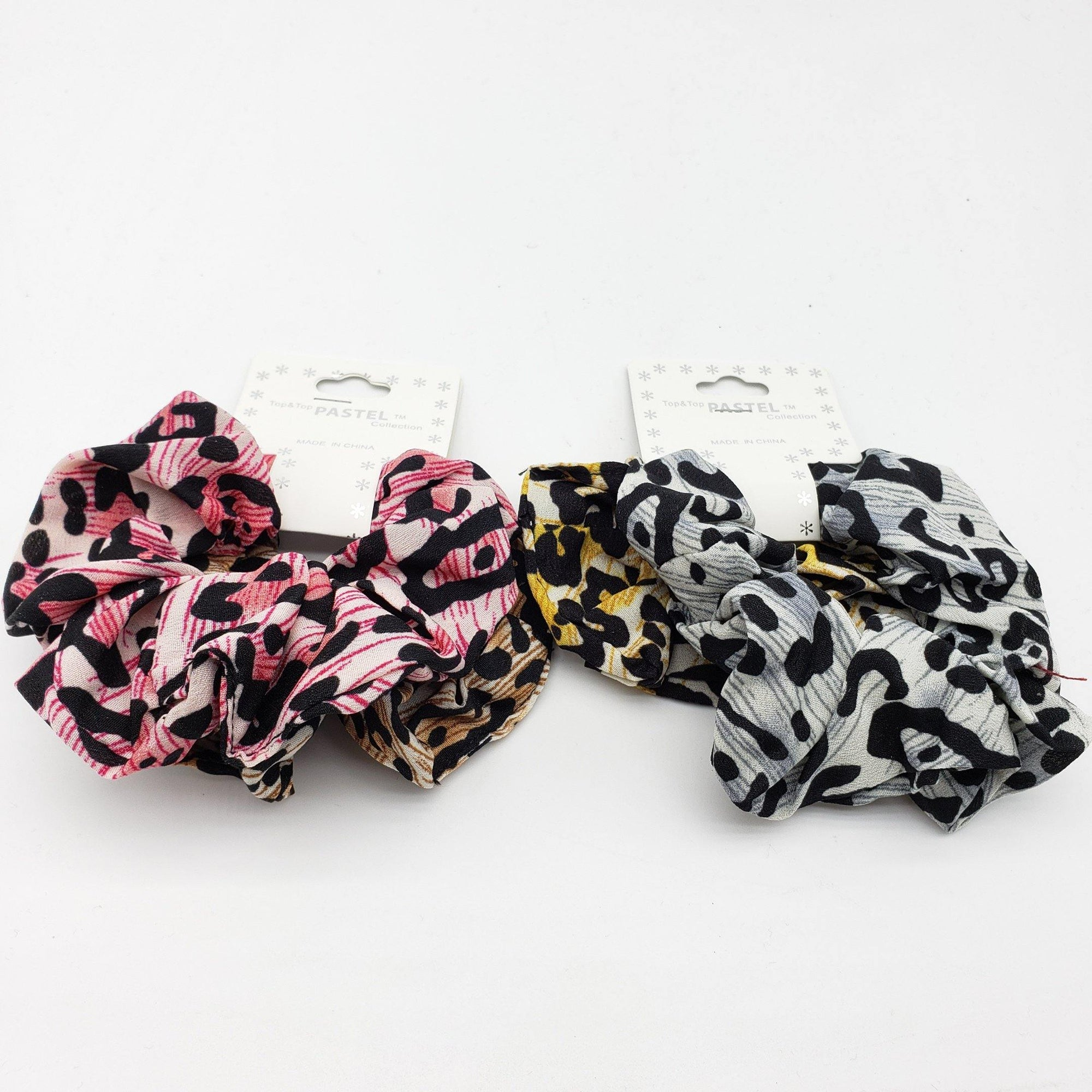 Top & Top Pastel Leopard Print Scrunchies Assort #ET00454 (12PC)