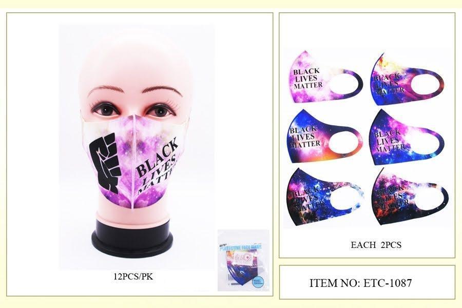 BLM Galaxy Print Fist Polyester Mask #ETC1087 (12PC)