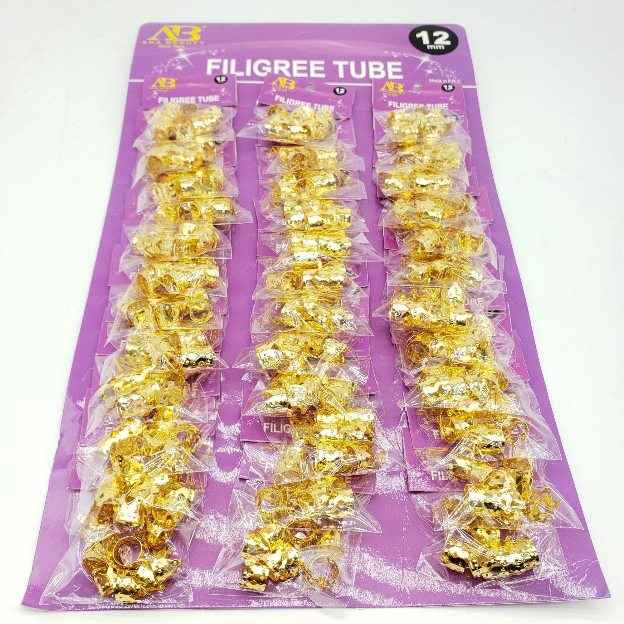 AB Gold Filigree Tube #ETO (36PC)