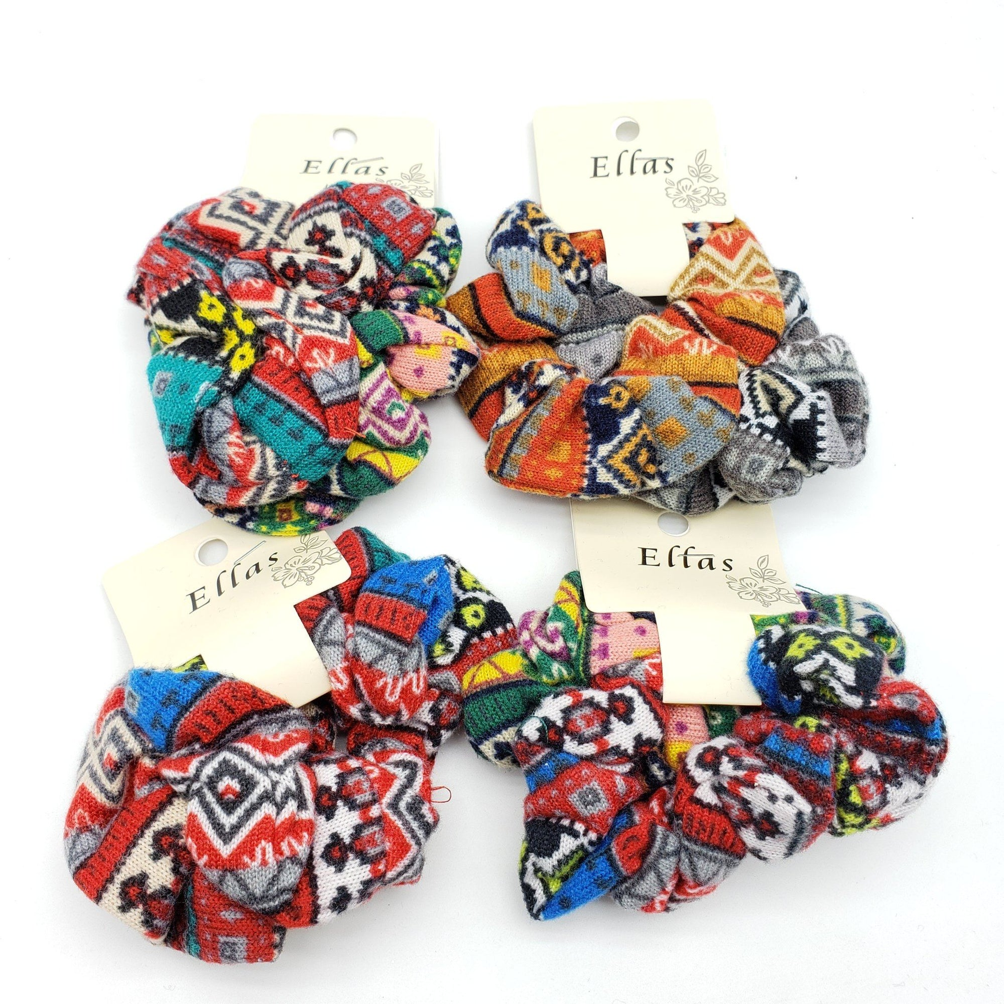 Ellas Scrunchies Assort #ETW1717B (12PC)