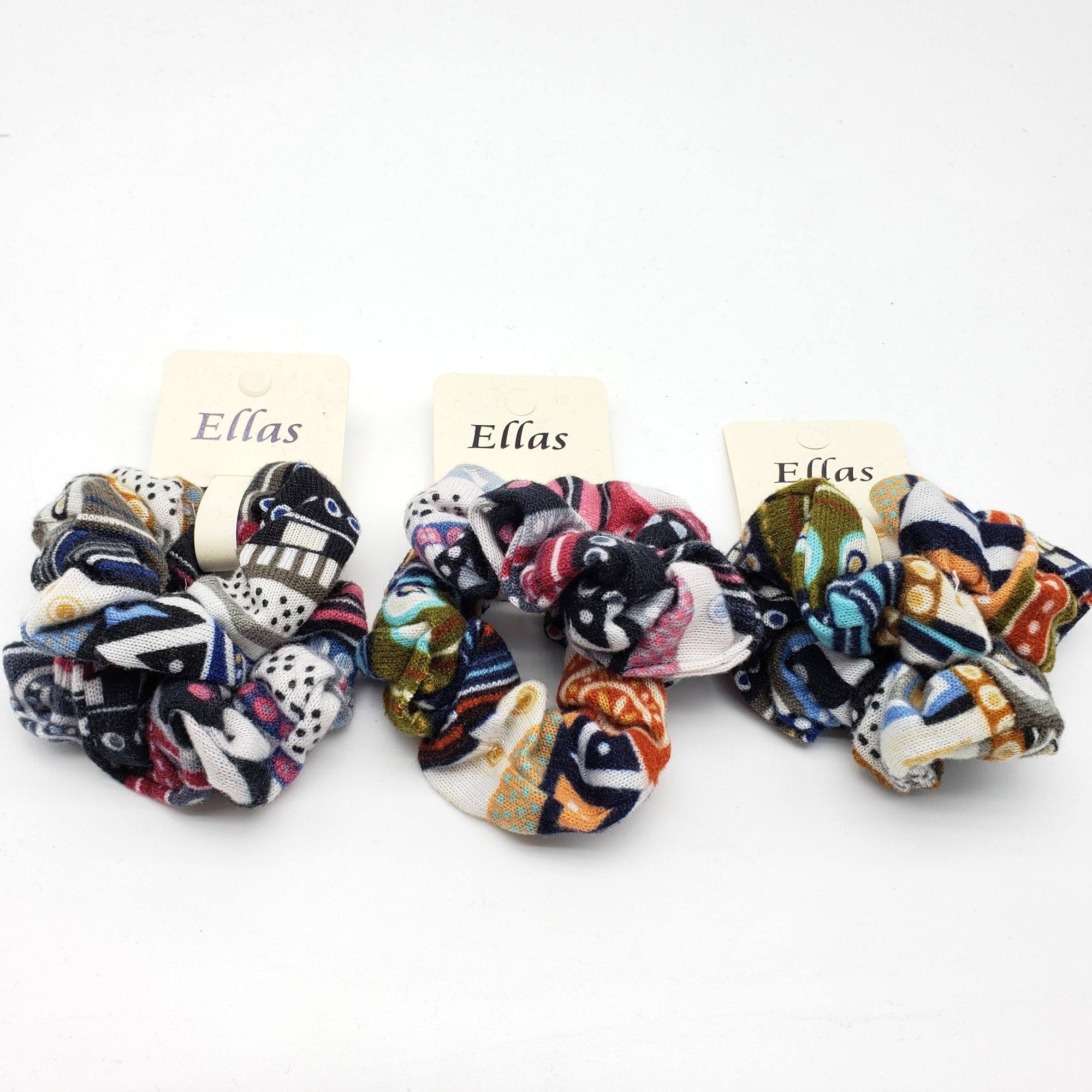Ellas Scrunchies Assort #ETW1717C (12PC)
