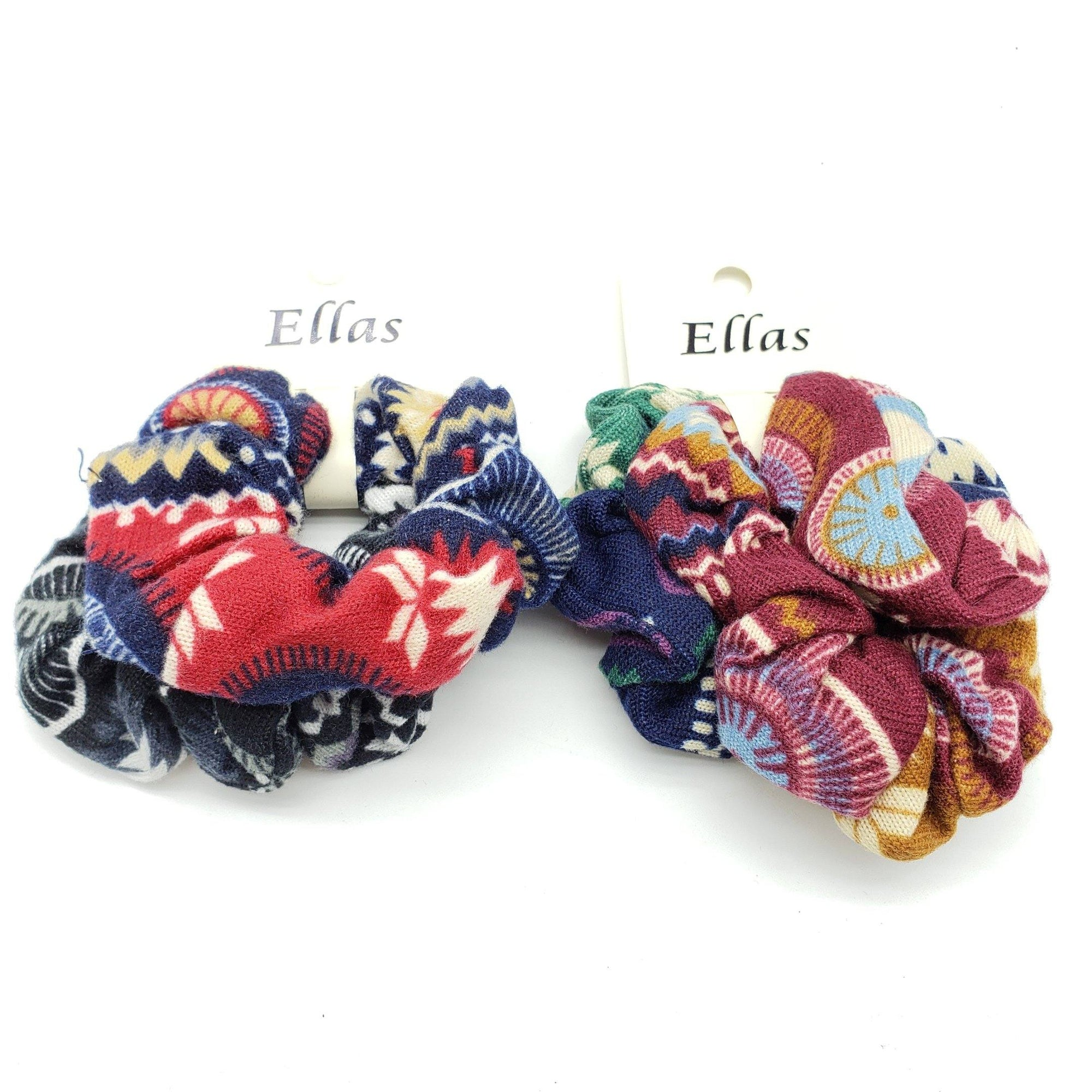 Ellas Scrunchies Assort #ETW1717D (12PC)