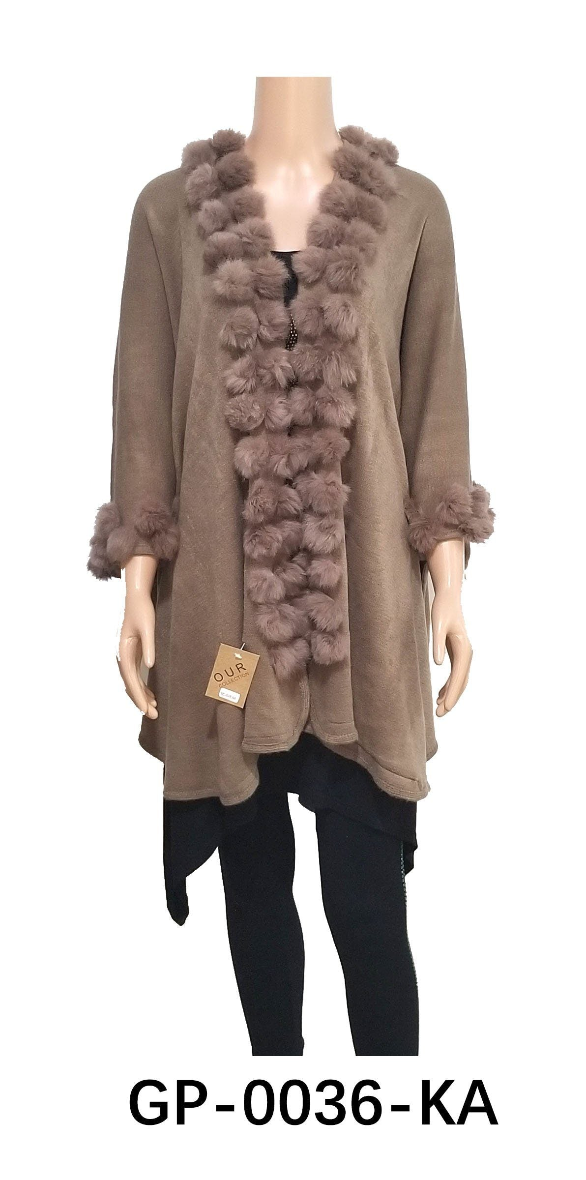 Round Fur Trim Cardigan #GP0036 (PC)