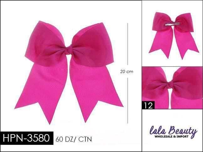 Cheer Bow #HPN3580 Dark Fuschia/Purple (Dozen)