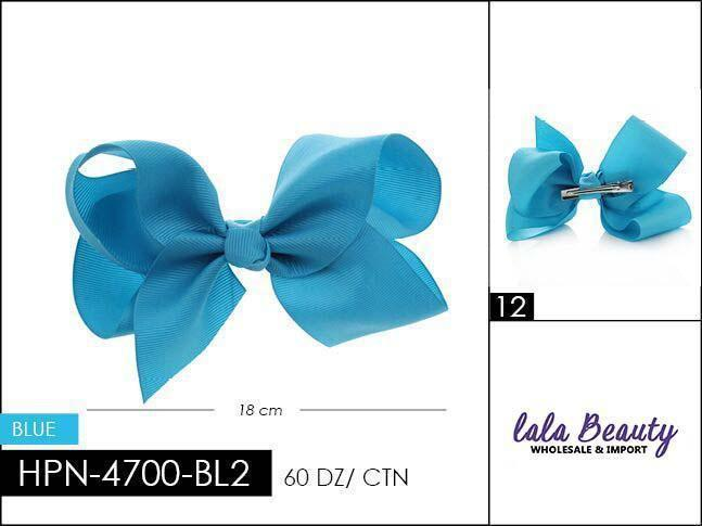 Large Hair Bow #HPN3573 Teal Blue (Dozen)