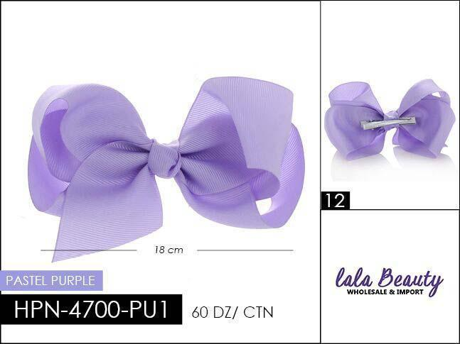 Large Hair Bow #HPN4338 Pastel Purple (Dozen)