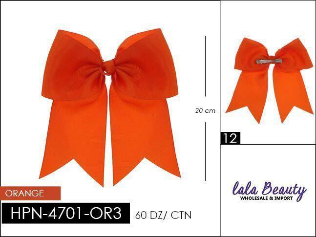 Cheer Bow #HPN4701-OR3 Orange (Dozen)