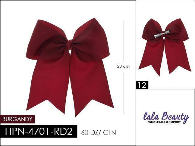 Cheer Bow #HPN4701-RD2 Burgundy (Dozen)