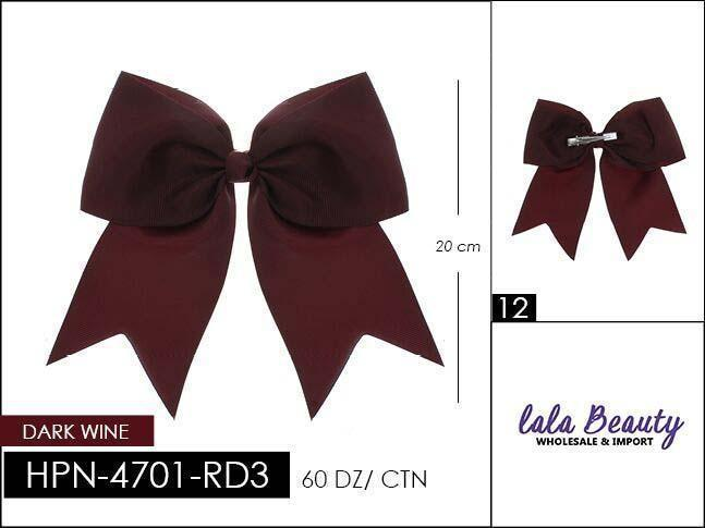 Cheer Bow #HPN4701-RD3 Dark Wine (Dozen)