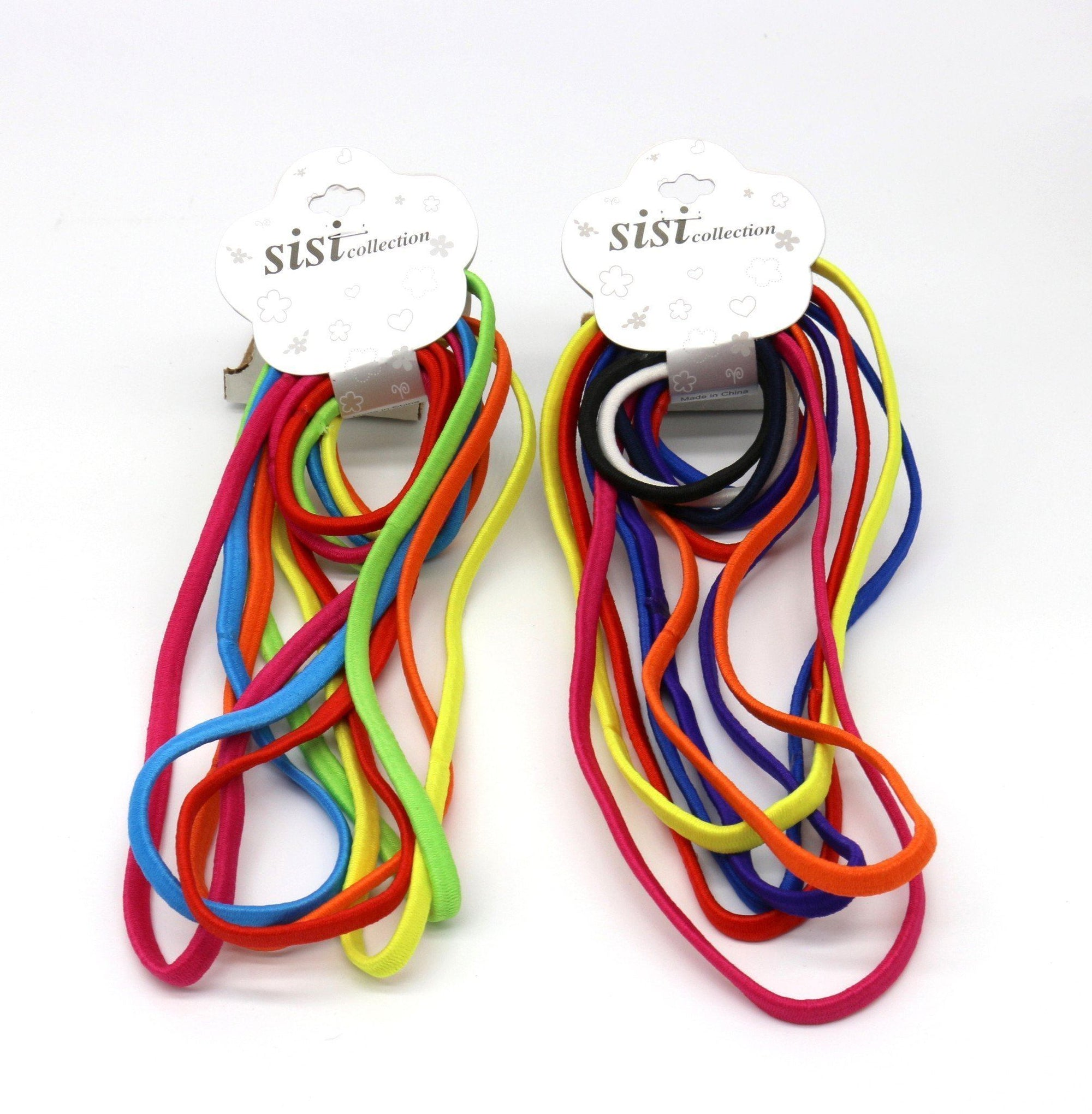 #EPT377A Thin Assort Elastic Head Band & Rubber Band (DZ)
