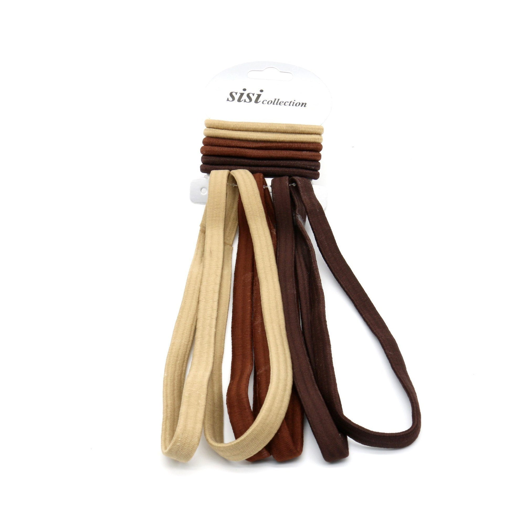 #EHW336BR Ast Brown Thick Elastic Head Band / Rubber Band (DZ)