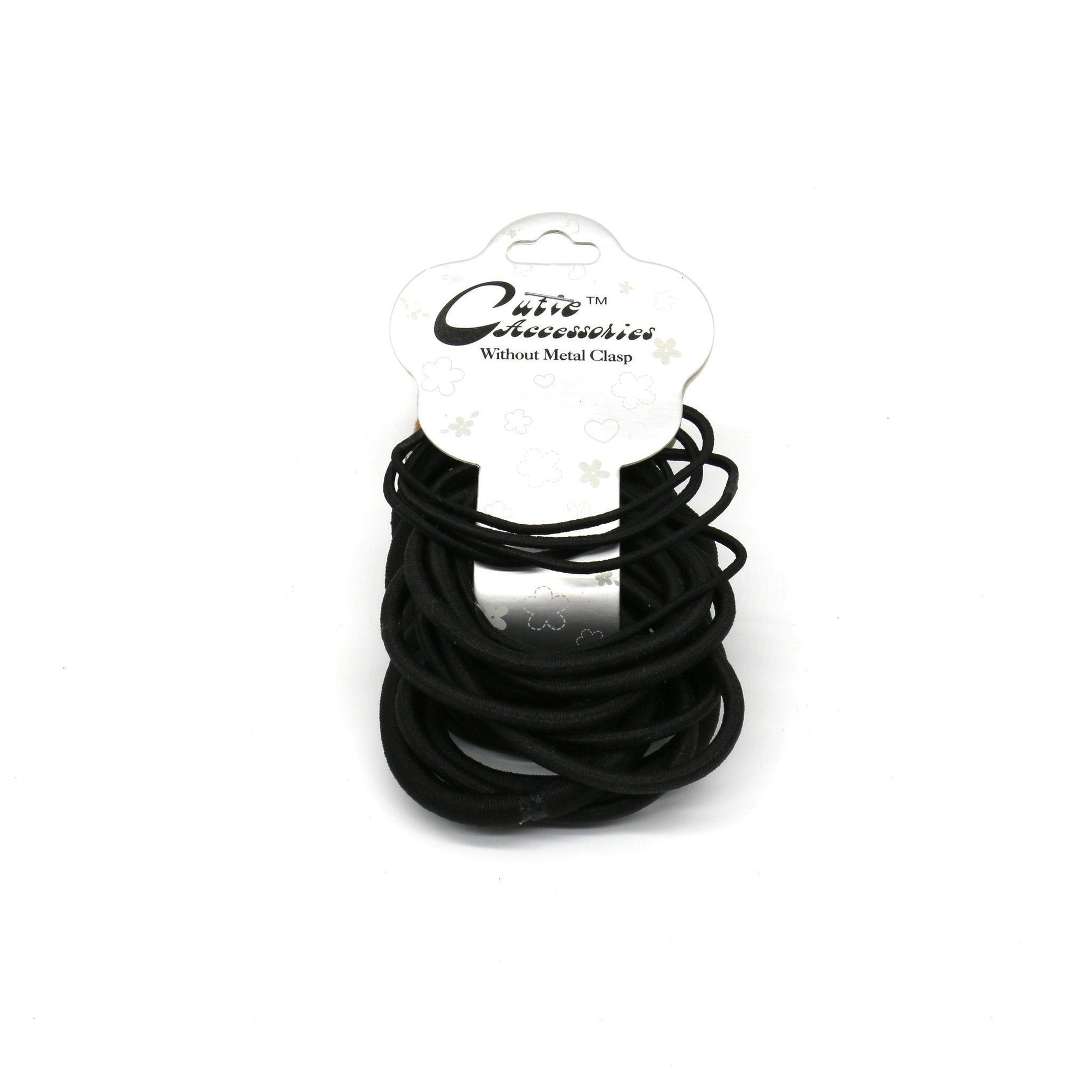 #EPT381K Black Thin & Thick Elastic Rubber Bands (DZ)