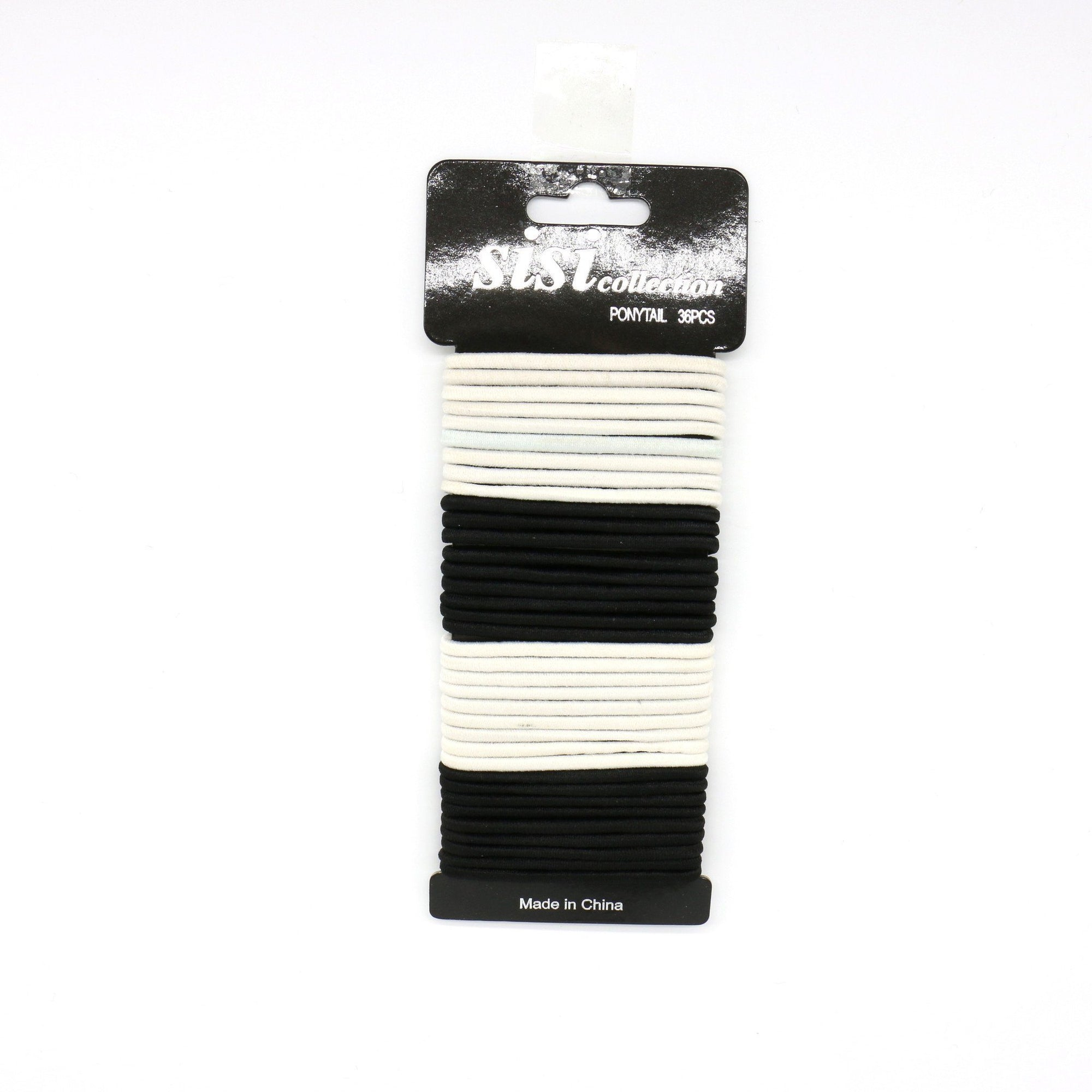 #EPT388BW Black / White Elastic Bands 40PC (DZ)
