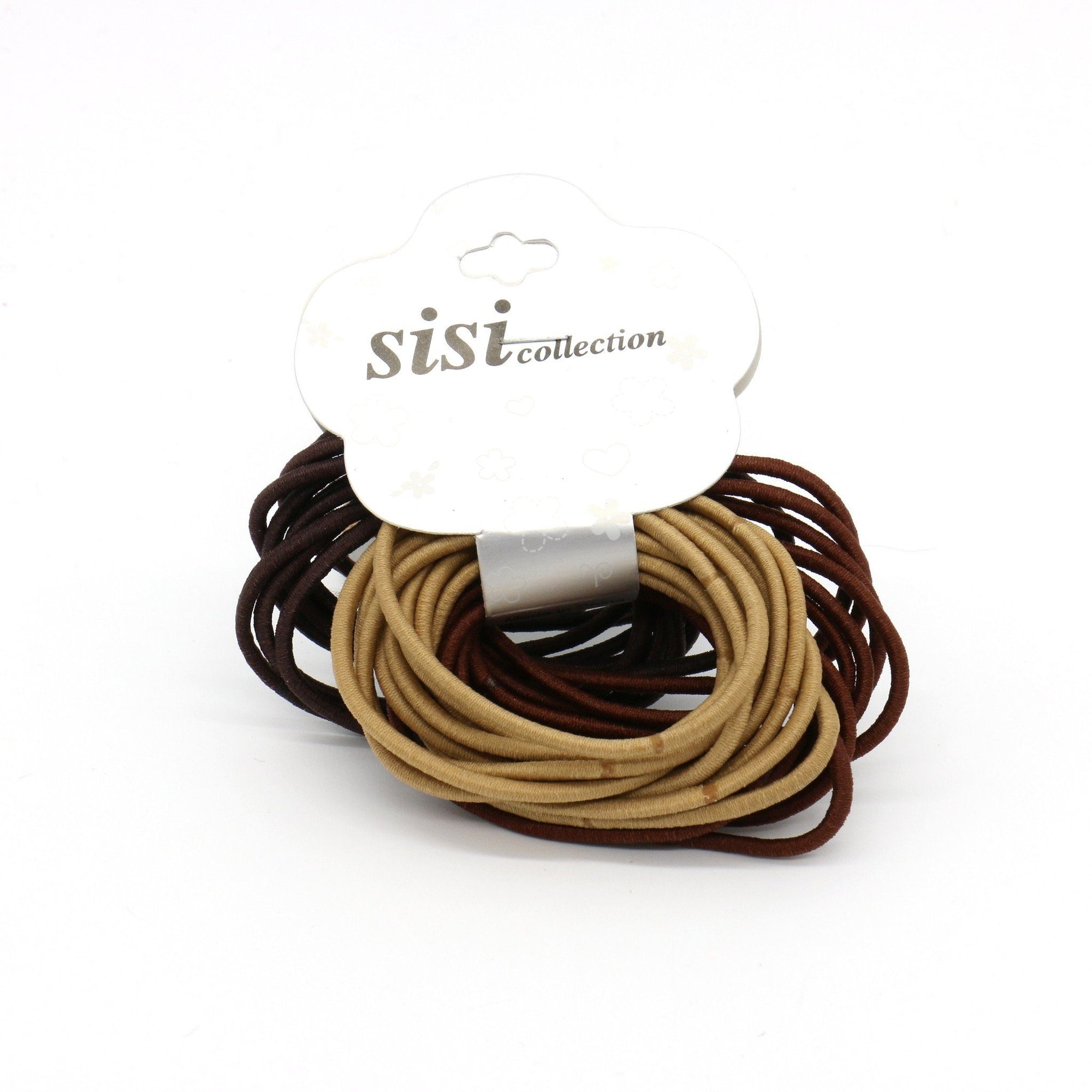 #EPT359BR Thin Assorted Brown Elastic Bands (DZ)