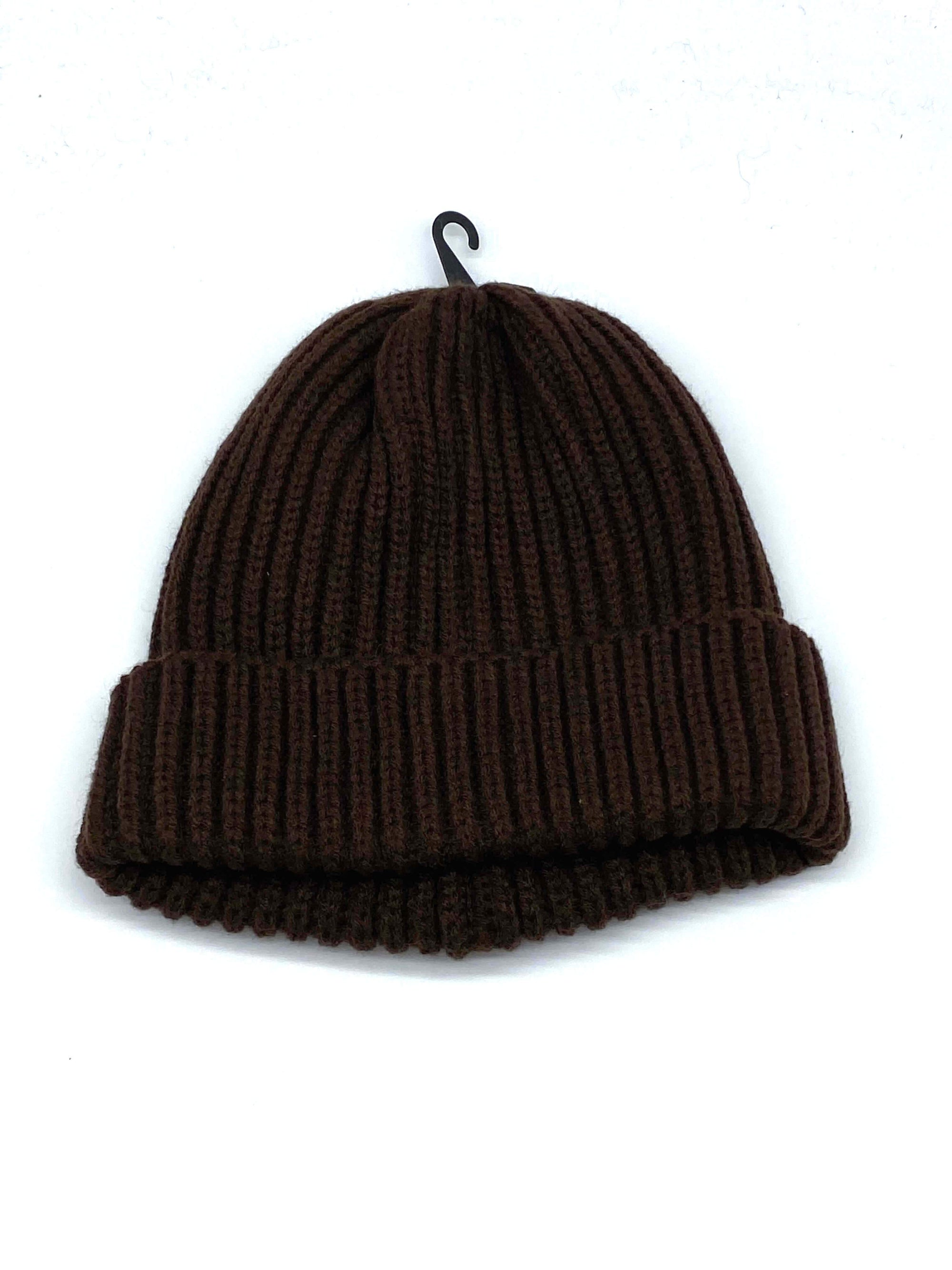 #KBW281 Plain Dark Brown Beanie