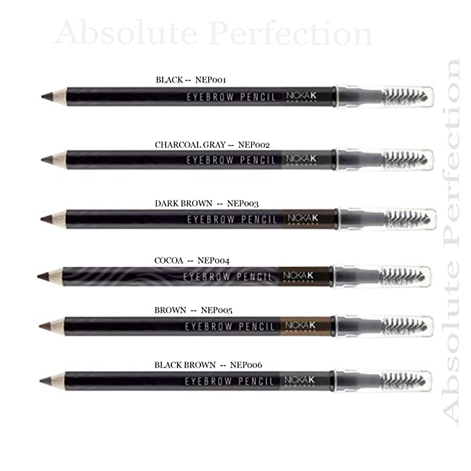 Nicka K Eyebrow Pencil with Brush #NEP (12PC)