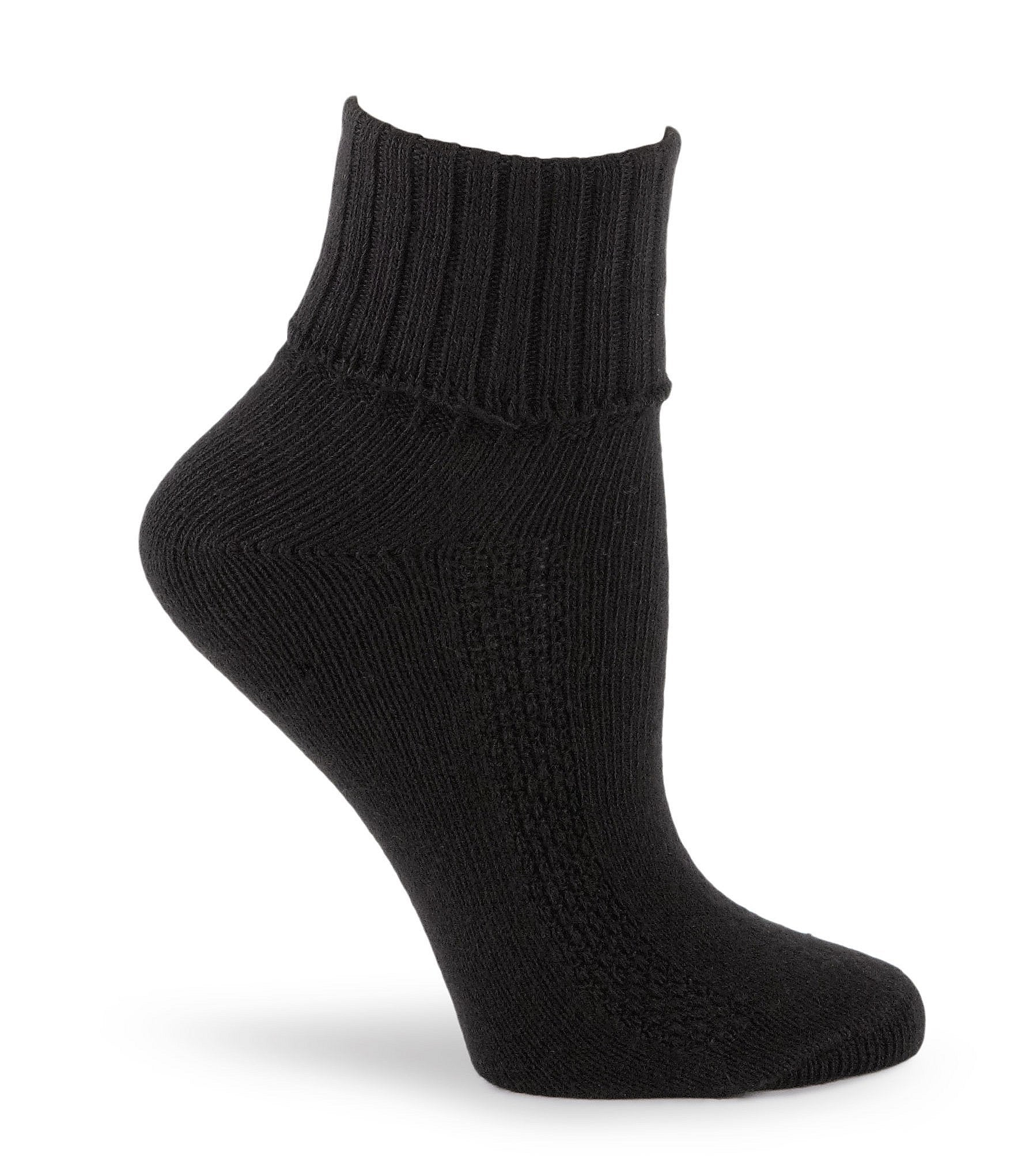 Black Ankle Socks for Men (12PC)