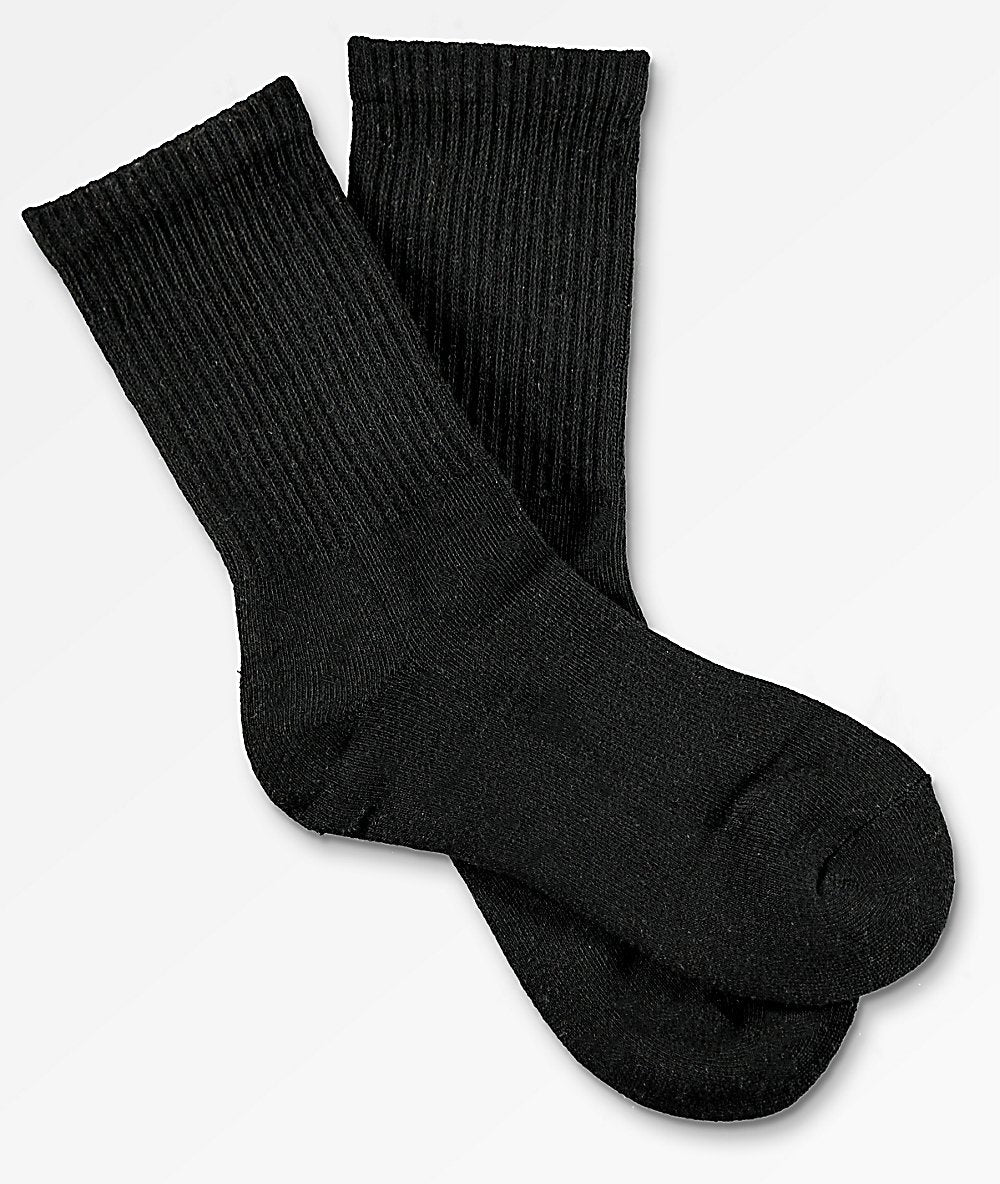 Black Crew Socks for Men (12PC)