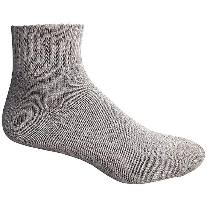 Gray Ankle Socks for Men (12PC)