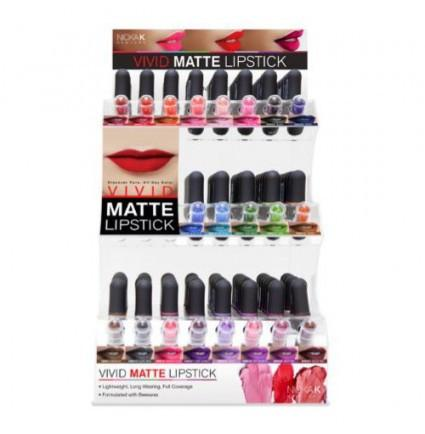 #NMS Nicka K Vivid Matte Lipstick Set/Display (126PC)