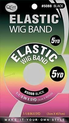 Qfitt Elastic Wig Band 5 Yard / Black #5088 (12PC)
