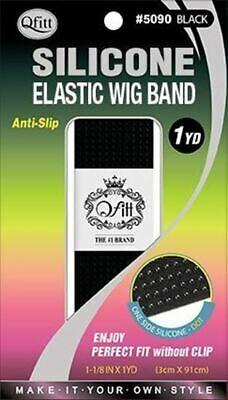 Qfitt Silicone Elastic Wig Band 1 Yard / Black#5090 (12PC)