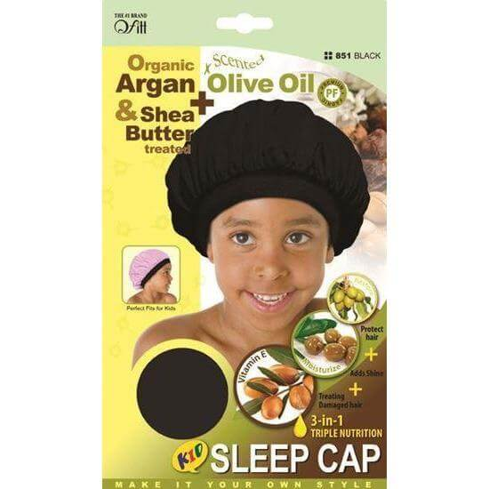 Qfitt Kid's Sleep Cap / Black #851 (12PC)