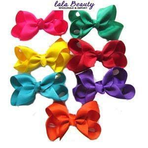 Mini Hair Bow #QHC2390AC Assort (2 Dozen)