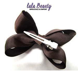 Mini Hair Bow #QHC2390BR Brown (2 Dozen)