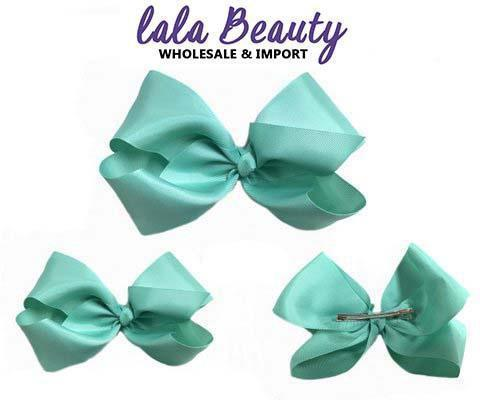 Texas Size Jumbo Hair Bow Mint (Dozen)