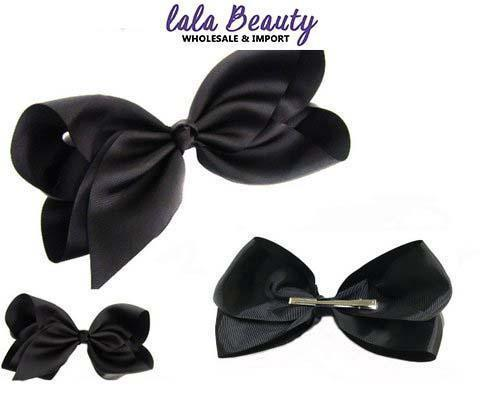 Texas Size Jumbo Hair Bow Black (Dozen)