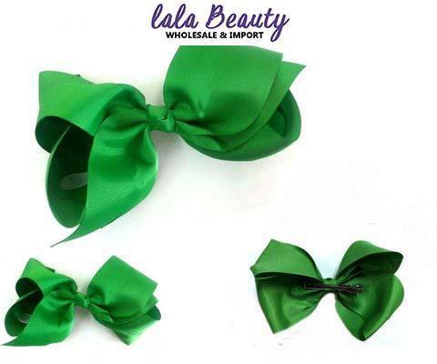 Texas Size Jumbo Hair Bow Green (Dozen)