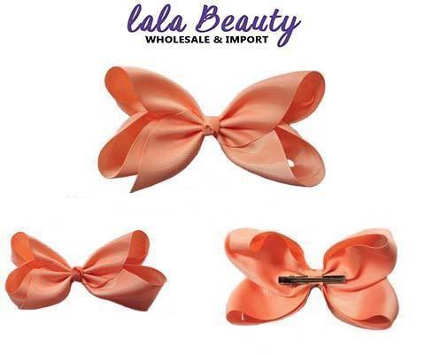 Texas Size Jumbo Hair Bow Peach (Dozen)